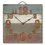 Gracie Oaks Cassandrea Square Wood Pallet Wall Clock; Blue/Gray