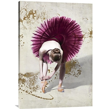 Global Gallery 'Purple Ballerina' by Rizzardi Graphic Art on Wrapped Canvas; 36'' x 24'' x 1.5'' D