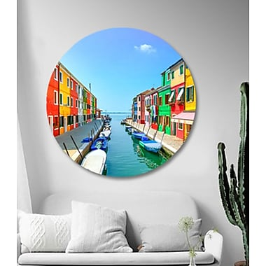 Serge De Troyer Collection 'Colorful City One' Photographic Print on Glass; 36'' H x 36'' W