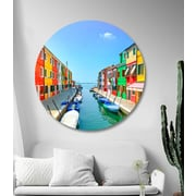 Serge De Troyer Collection 'Colorful City One' Photographic Print on Glass; 46'' H x 46'' W