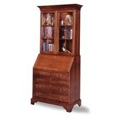 August Grove Susannah File Drawer Secretary Desk w/ Hutch; Mission Maple by