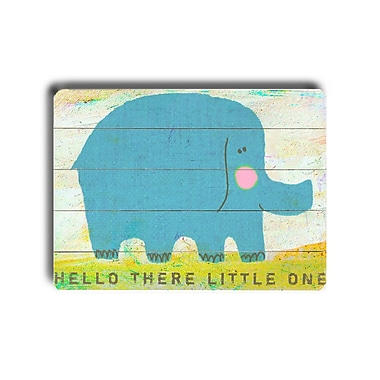 Harriet Bee Traditional There Elephant Wooden Wall D cor; 12'' H x 16'' W