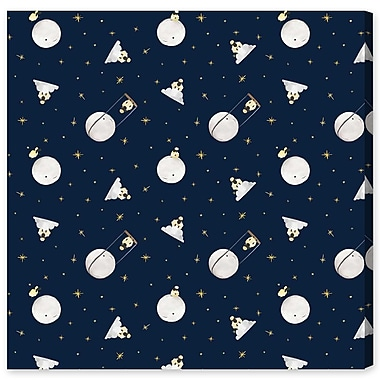 Harriet Bee 'Sheep And The Moon' Graphic Art Print on Wrapped Canvas; 43'' H x 43'' W x 1.5'' D