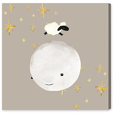Harriet Bee 'Sheep Jumping Over The Moon' Graphic Art Print on Wrapped Canvas