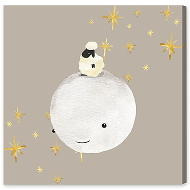 Harriet Bee 'Sheep And Moon Best Friends' Graphic Art Print on Wrapped Canvas