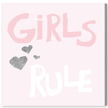 Harriet Bee 'Girls Rule' Textual Art on Canvas; 16'' H x 16'' W x 1.5'' D