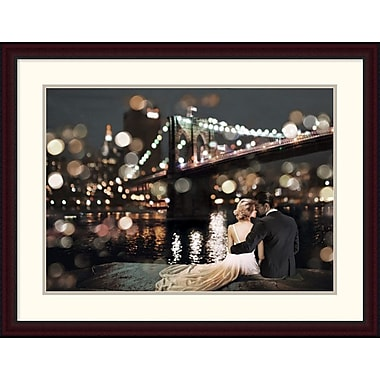 Global Gallery 'Kissing in a NY Night' by Loumer Framed Photographic Print; 29.3'' x 38'' x 1.5'' D