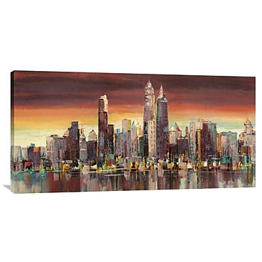 Global Gallery 'Sera su New York' by Florio Painting Print on Wrapped Canvas; 18'' x 36'' x 1.5'' D