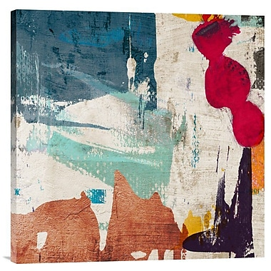 Global Gallery 'Colors Royale I' by Munson Painting Print on Wrapped Canvas; 24'' x 24'' x 1.5'' D