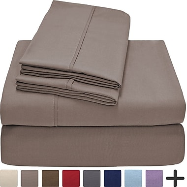 Latitude Run Andes Premium Microfiber Sheet Set; Taupe