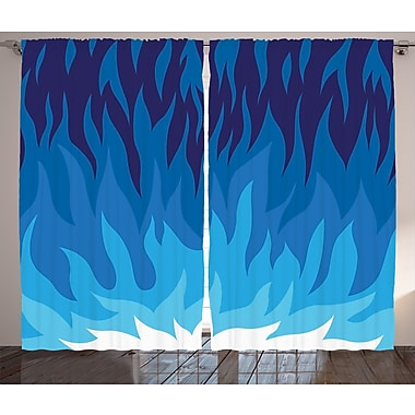 Nolan Exploding Motion Energy Graphic Print & Text Semi-Sheer Rod Pocket Curtain Panels (Set of 2)
