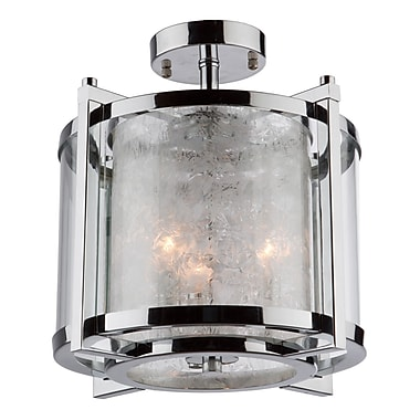 Brayden Studio Crotts 3-Light Semi Flush Mount