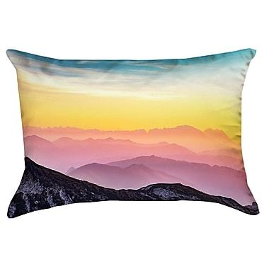Latitude Run Thang Pastel Landscape Double Sided Print Lumbar Pillow w/ Insert