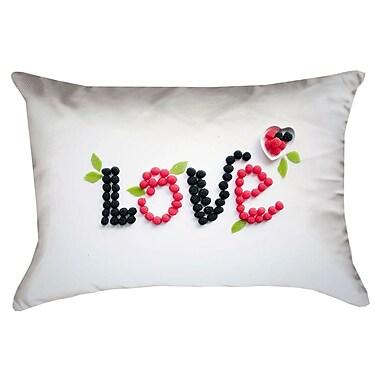 Latitude Run Buoi Love and Berries Rectangular Outdoor Lumbar Pillow