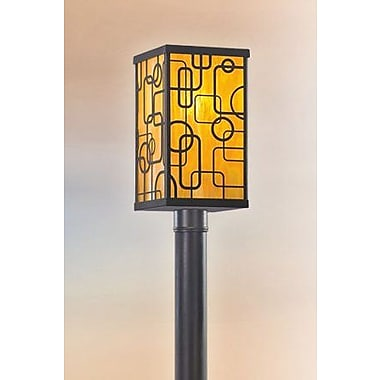 Darby Home Co Theodore Fluorescent Post Lantern Set; Polished Stainless Steel