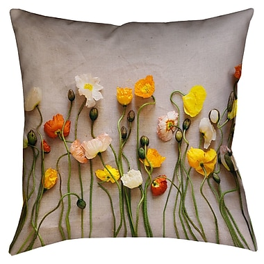 Latitude Run Tuyen Dried Flowers Double Sided Print Square Throw Pillow w/ Insert; 18'' x 18''
