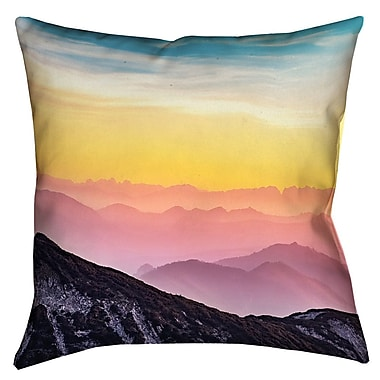 Latitude Run Thang Pastel Landscape Double Sided Print Square Pillow Cover; 16'' x 16''