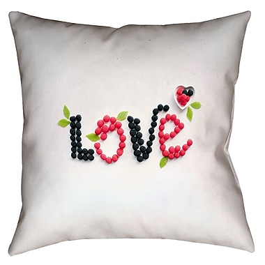 Latitude Run Buoi Love and Berries Double Sided Print Indoor Throw Pillow; 18'' x 18''