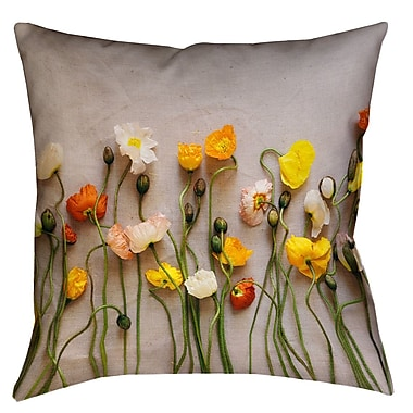Latitude Run Tuyen Dried Flowers Double Sided Print Square Pillow Cover w/ Down Alternative