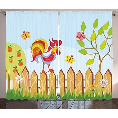 Zoomie Kids Brooklyn Farm House Semi-Sheer Rod Pocket Curtain Panels (Set of 2); 54'' W x 84'' L