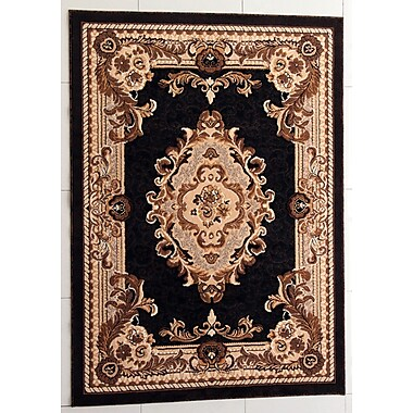 Astoria Grand Pilkington Black Area Rug; 5'3'' x 7'2''
