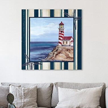 Breakwater Bay 'Lighthouse' Graphic Art Print on Wrapped Canvas; 36'' H x 36'' W