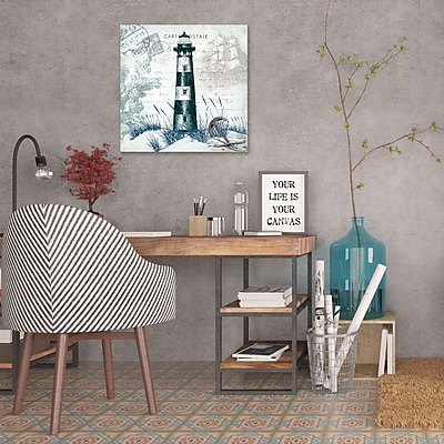 Breakwater Bay 'Seaside Postcard: Lighthouse' Graphic Art Print on Wrapped Canvas; 36'' H x 36'' W
