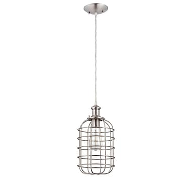 Breakwater Bay Wynnbrook 1-Light Mini Pendant; Brushed Nickel