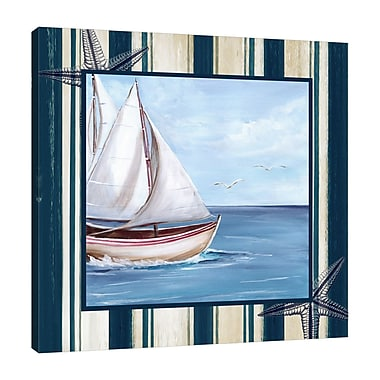 Breakwater Bay 'Sailboat' Graphic Art Print on Wrapped Canvas; 36'' H x 36'' W