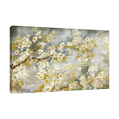 Bloomsbury Market 'Cherry Blossoms' Print on Wrapped Canvas; 24'' H x 36'' W