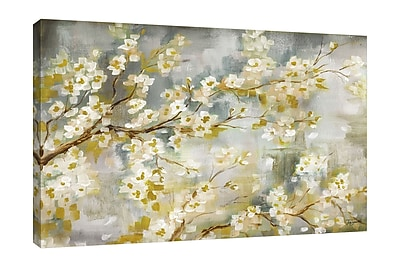 Bloomsbury Market 'Cherry Blossoms' Print on Wrapped Canvas; 10'' H x 15'' W