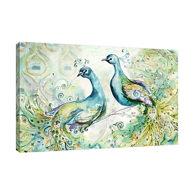 Bloomsbury Market 'Bohemian Peacocks' Print on Wrapped Canvas; 20'' H x 30'' W