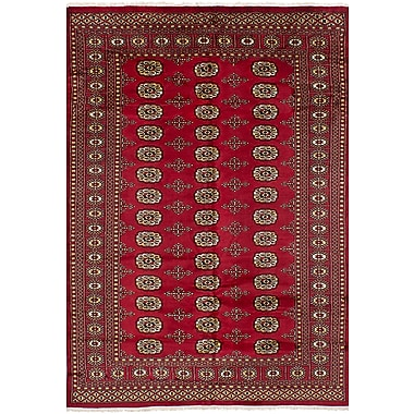 Bloomsbury Market Olney Springs Hand-Knotted Wool Red Indoor Bordered Area Rug