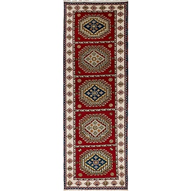 Bloomsbury Market Berkshire Hand-Knotted 100pct Wool Red Indoor Area Rug