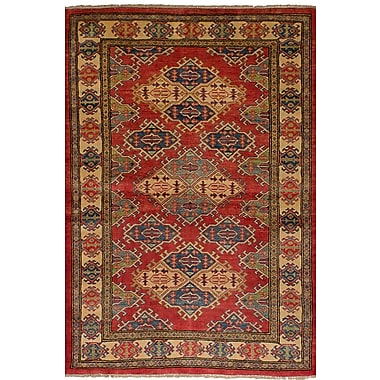 Bloomsbury Market Bernard Traditional Hand-Knotted Wool Rectangular Red Tribal Indoor Area Rug