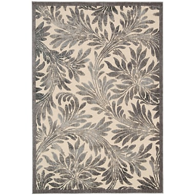 Charlton Home Burnham Ivory Area Rug; 2'3'' x 3'9''