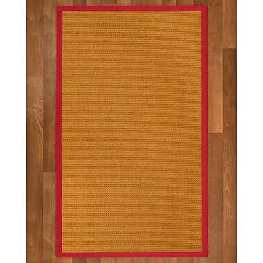 Charlton Home Bullen Sisal Red Area Rug; 8' X 10'