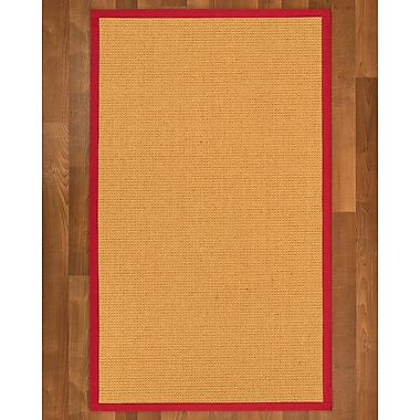 Charlton Home Buggs Sisal Red Area Rug; Runner 2'6'' X 8'