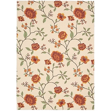 Charlton Home Burnside Ivory Floral and Plants Area Rug; 8' x 10'