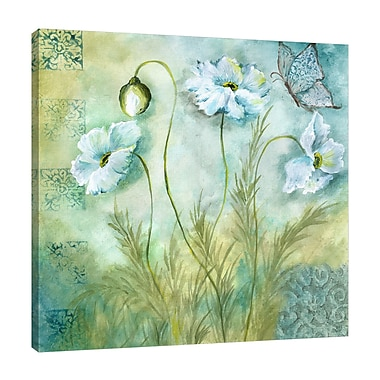August Grove 'White Poppy II' Print on Wrapped Canvas; 12'' H x 12'' W