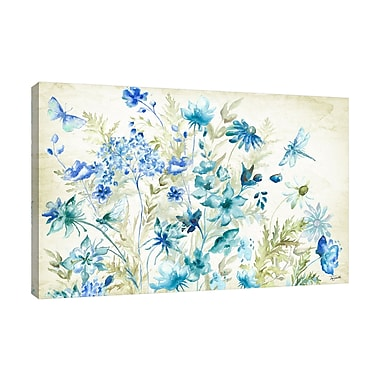 August Grove 'Wildflower and Dragonfly IV' Print on Wrapped Canvas; 24'' H x 24'' W