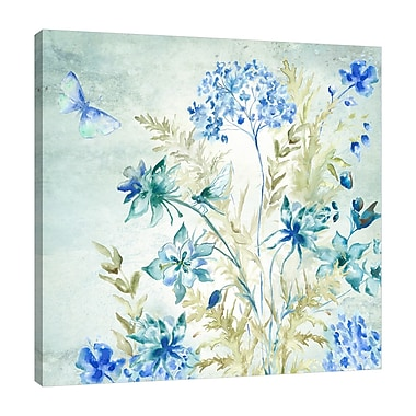 August Grove 'Wildflower and Dragonfly III' Graphic Art Print on Wrapped Canvas; 40'' H x 60'' W