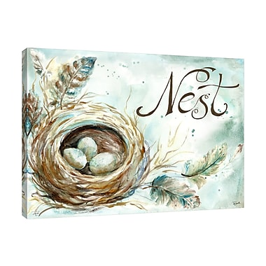 August Grove 'Nest' Print on Wrapped Canvas; 12'' H x 18'' W