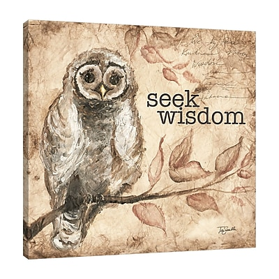 August Grove 'Owl Sentiment II' Graphic Art Print on Wrapped Canvas; 36'' H x 36'' W