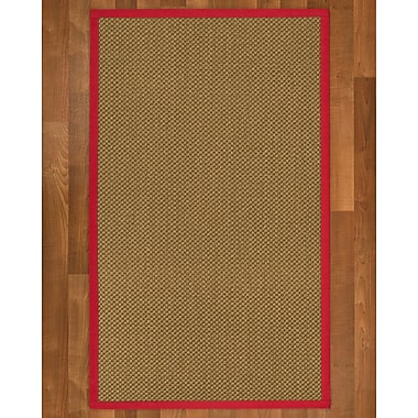August Grove Loehr Sisal Red Area Rug; 6' X 9'