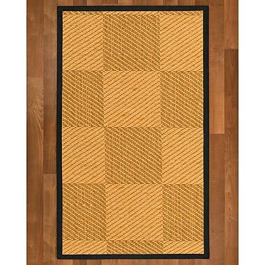 August Grove Luhrmann Sisal Onyx Area Rug; 5' X 8'