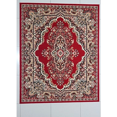 Astoria Grand Perry Red Area Rug; 7'11'' x 9'10''
