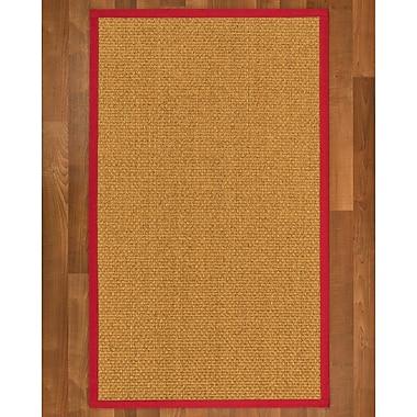 Gracie Oaks Andlau Sisal Red Area Rug; 9' X 12'
