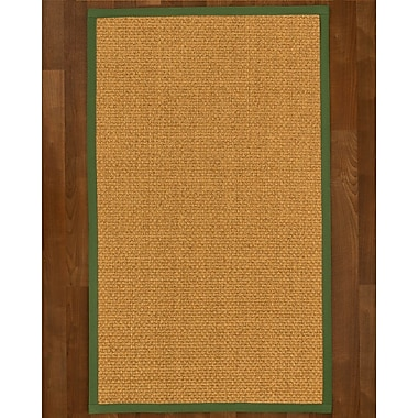 Gracie Oaks Andlau Sisal Green Area Rug; Runner 2'6'' X 8'