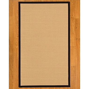 Gracie Oaks Rupendra Hand Crafted Sisal Fossil Area Rug; 2' X 3'